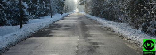 Lód na drogach. Obowiązują ostrzeżenia IMGW