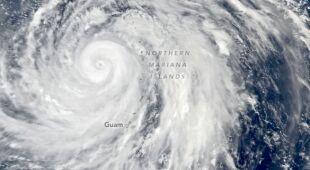 Tajfun Hagibis na wyspie Guam