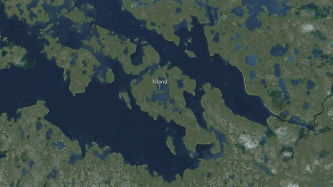 Wyspa na jeziorze na wyspie <br />na jeziorze na wyspie