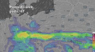 Prognozowane opady deszczu w kolejnych dniach (Ventusky.com) (wideo bez dźwięku)